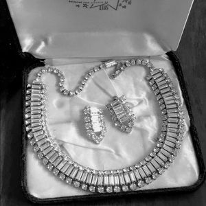 "VTG RHINESTONE SET ""Jewelry of the Stars"" by LUIS"